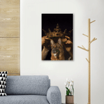King German Shepherd Asthetic Wall Art Vertical Poster Canvas