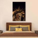 King Golden Retriever Asthetic Wall Art Vertical Poster Canvas
