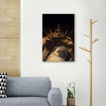 King Pug Asthetic Wall Art Vertical Poster Canvas