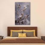 Corgi And Angle Wall Art Vertical Poster Canvas