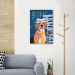 Beagle Jazz Wall Art Vertical Poster Canvas