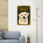 Obsession Tennis Ball Labrador Wall Art Vertical Poster Canvas