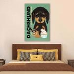 Dachshund Cupcake Company Wall Art Vertical Poster Canvas