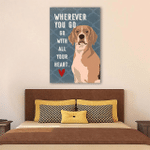 Whenever You Go Wall Art Vertical Poster Canvas