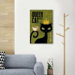 Queen Cat Dark Roast Wall Art Vertical Poster Canvas