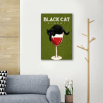 Black Cat Winery Wall Art Vertical Poster Canvas