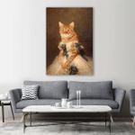 Royal Pet Portrait Wall Art Vertical Poster Canvas