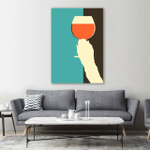 Drinking Wine Wall Art Vertical Poster Canvas