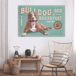 Bull Dog Bed And Breakfast Wall Art Horizontal Poster Canvas