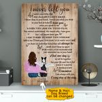 I Never Left You Pet Memorial Personalized Wall Art Vertical Poster Canvas