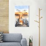 Corgi And Sunset Wall Art Vertical Poster Canvas