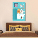 Golden Retriever Drinking Wine And Taking A Bath Wall Art Vertical Poster Canvas