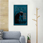 Cat Playing Piano Wall Art Vertical Poster Canvas
