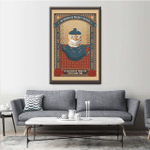 Cat In A Kettle Wall Art Vertical Poster Canvas