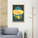 Corgi In A Dream Wall Art Vertical Poster Canvas
