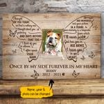 I Thought Of You - Once By My Side Furever In My Heart Butterfly Shape Pet Memorial Personalized Wall Art Horizontal Poster Canvas
