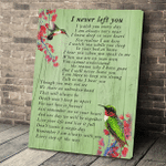 I Never Left You Hummingbird Memorial Wall Art Vertical Poster Canvas