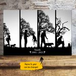 Dog's Life With Man Personalized Pet Memorial Gift Wall Art Horizontal Poster Canvas