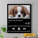 I Miss You So Much Personalized Pet Memorial Gift Wall Art Vertical Poster Canvas
