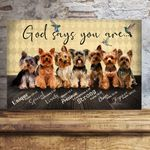 Yorkshire Terrier God Says You Are Pet Memorial Gift Wall Art Horizontal Poster Canvas