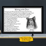 WATD Personalized Dog Poem Memorial Gift Wall Art Horizontal Poster Canvas
