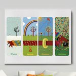 Dachshund Four Seasons In One Dog Memorial Gift Wall Art Horizontal Poster Canvas