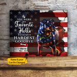 Rottweiler You Were My Favorite Hello And My Hardest Goodbye Personalized Pet Memorial Gift Wall Art Horizontal Poster Canvas