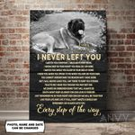 Mastiff I Never Left You Personalized Pet Memorial Gift Wall Art Vertical Poster Canvas