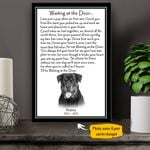 Rottweiler WATD Personalized Dog Poem Memorial Gift Wall Art Vertical Poster Canvas