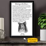 Sheltie WATD Personalized Dog Poem Memorial Gift Wall Art Vertical Poster Canvas