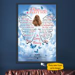 Cocker Spaniel I Never Left You Butterfly Wings Shape Personalized Pet Memorial Gift Wall Art Vertical Poster Canvas