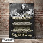 Basset Hound I Never Left You Personalized Pet Memorial Gift Wall Art Vertical Poster Canvas