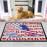 All Guests Must Be Approved by Our Golden Retriever Pet Gift Door Mat