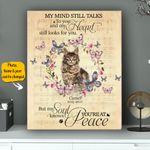 Maine Coon My Mind Still Talks To You And My Heart Still Looks For You Personalized Pet Memorial Gift Wall Art Vertical Poster Canvas