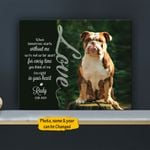 When Tomorrow Starts Without Me Personalized Pet Memorial Gift Wall Art Horizontal Poster Canvas