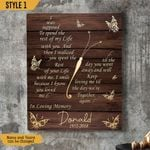 I Was Supposed To Spend Rest Of My Life With You Personalized Memorial Wall Art Vertical Poster Canvas