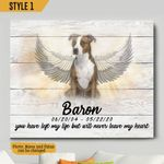 You Have Left My Life But Will Never Leave My Heart Personalized Pet Memorial Gift Wall Art Horizontal Poster Canvas