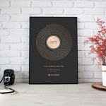 Personalized Song Lyrics Prints Anniversary Gift Wall Art Vertical Poster Canvas