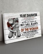 To My Daughter Gift From Dad Wall Art Horizontal Poster Canvas