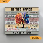 In This Office We Do Team Work Personalized Wall Art Horizontal Poster Canvas