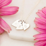 Personalized To My Daughter In Law Gift From Mother In Law Sweetest Hearts Necklace With Message Card