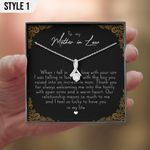 To My Mother In Law Gift From Bride Necklace With Message Card