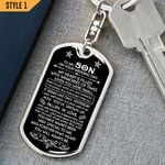 To My Son On Your Wedding Day Dog Tag Keychain And Necklace