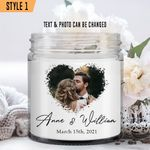 Personalized Wedding Anniversary Candle