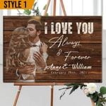 Personalized Wedding Anniversary Horizontal Pallet Sign