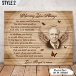 Missing You Always Personalized Memorial Gift Wall Art Horizontal Poster Canvas