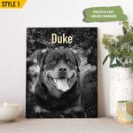 Personalized Pet Memorial Gift Portrait Photo Small Canvas Square Canvas Framed Print