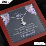 To My Wife You Are My Queen Forever Gift From Husband Wedding Anniversary Necklace With Message Card