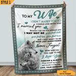 To My Wife Gift From Husband Happy Wolf Couples Sherpa Blanket Fleece Stadium Blanket Mink Blanket