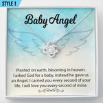 Baby Angel Miscarriage Gift Pregnancy Loss Gift Necklace With Message Card